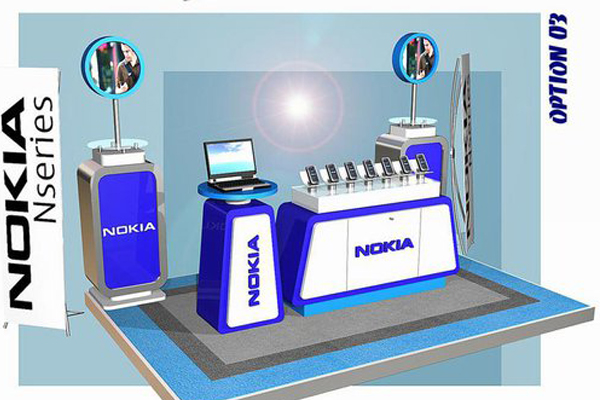 EO Event Organizer booth property Nokia banner